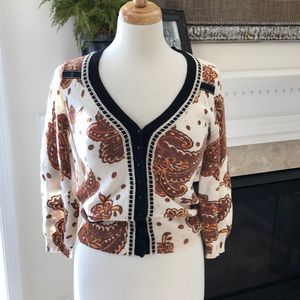 Anthropologie Scrapbook Originals Cardigan